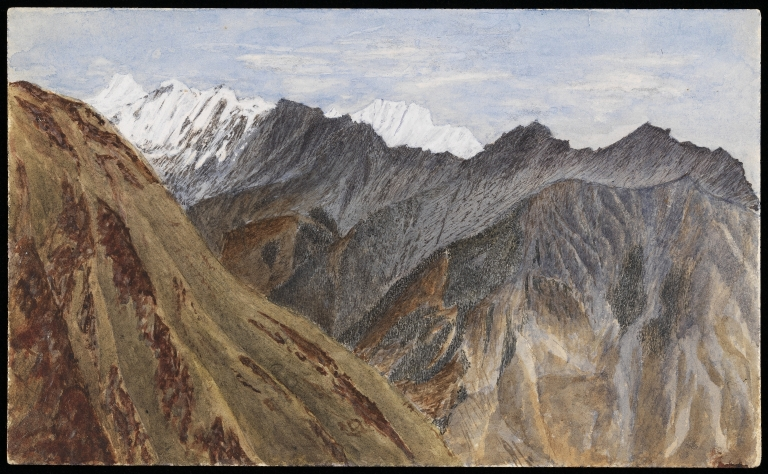 Painting of mountain ranges