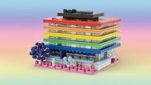 Rainbow Lego version of the Main Library