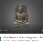 Screenshot of Gandarahan sculptures on Sketchfab