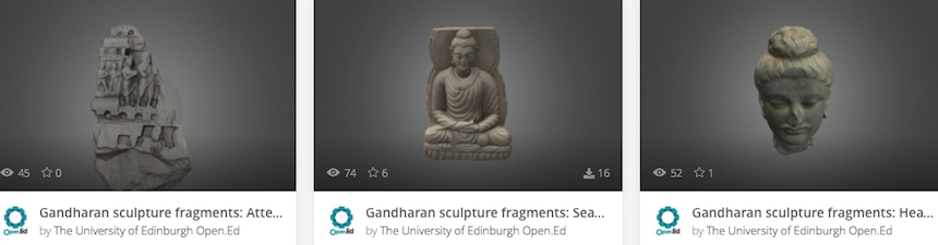 3d Gandharan Sculptures Open Ed