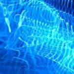 Blue Lights in dark water