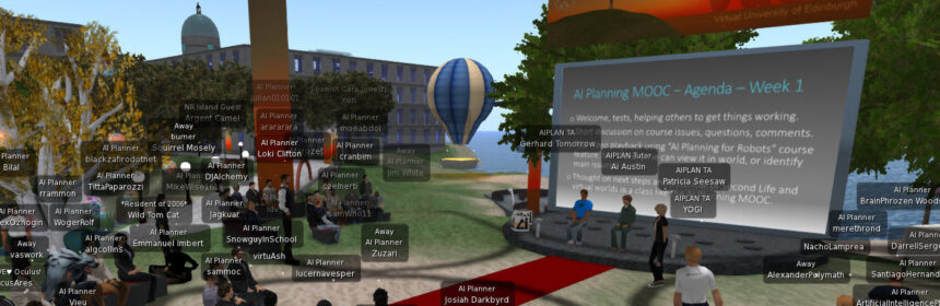 AI Planning MOOC Tutorial on Vue regions in Second Life