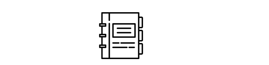 Icon of a book / folder with rings