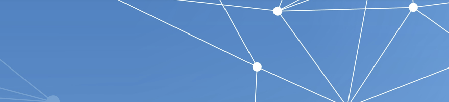 blue background with white lines connected by white dots.