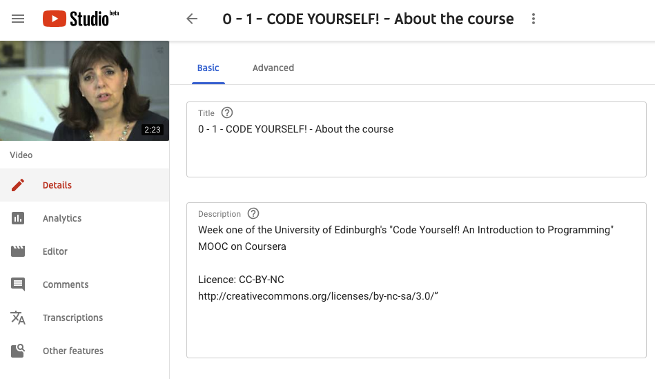 Description box text: Week one of the University of Edinburgh's 'Code yourself! An introduction to Programming' MOOC on Coursera. Licence: CC-BY-NC-SA http://creativecommons.org/licenses/by-nc-sa/3.0