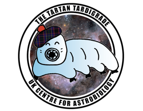 Illustration of a tardigrade wearing a scottish hat