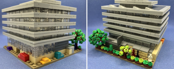 Two images of the Lego Main Library