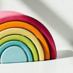 Photograph of clay rainbow ornament