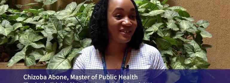 Masters in Public Health Student Chizoba Abone