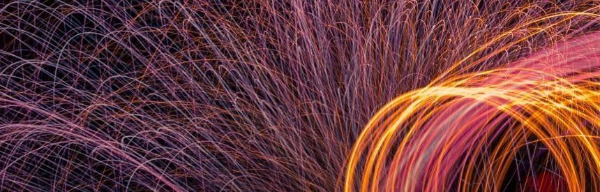 Welding sparks - decorative